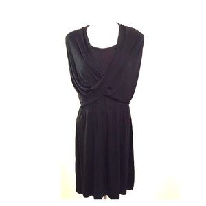 Dkny Dresses - DKNY Jersey wrap mini little black dress